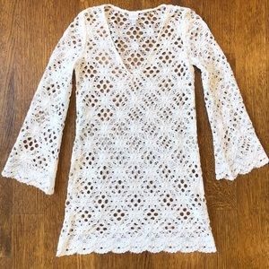 MILLY lace swim coverup